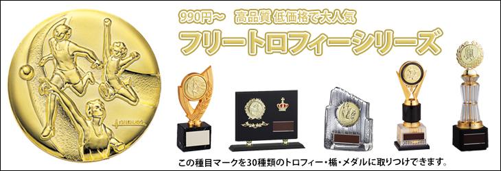 130種目からメダルを選んで33種類のトロフィーに取り付け出来るフリートロフィーシリーズ