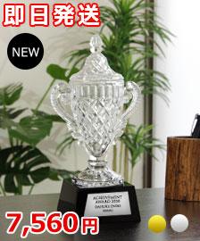 低価格なクリスタル優勝カップ